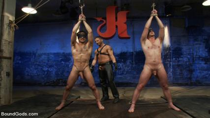 4 Muscle Men Gay - Kink Olympics - Live Shoot