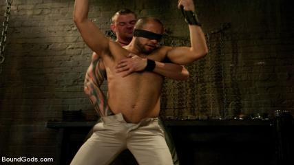 Frank Elliot Velvet Rope - New Dom Derrick Hanson Pounds The Living Hell Out Of House Slave Leo Forte.