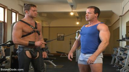 Gay Foot Fetish Clubs - Derek Pain Endures The Torturous BDSM Workout