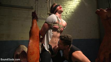 Porn Gay Muscule - Perverted Butcher Torments And Abuses His Handsome Captive