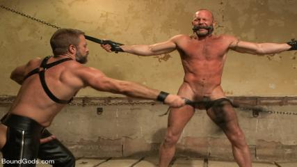 Rough And Hairy Gay - Caged And Fucked Like An Animal